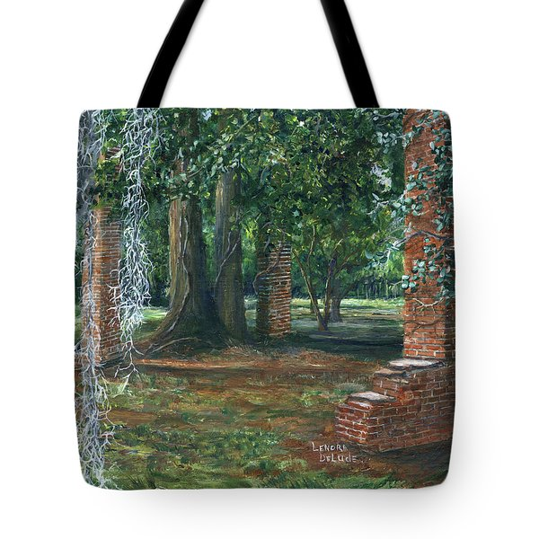 Ardoyne Ruins Near The Mansion, Houma, Louisiana Tote Bag
