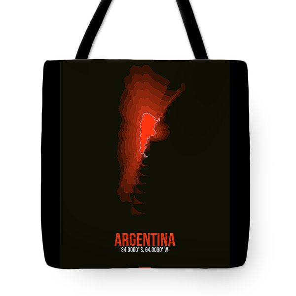 Argentina Radiant Map 3 Tote Bag