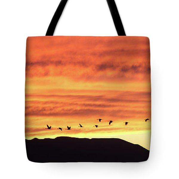 Arizona Sunset Of The Mule Mountains Tote Bag