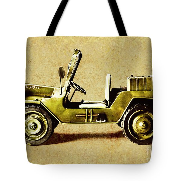 Army Jeep Tote Bag