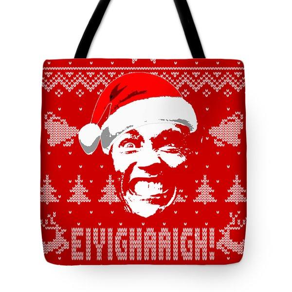 Arnold Schwarzenegger Christmas Shirt Tote Bag