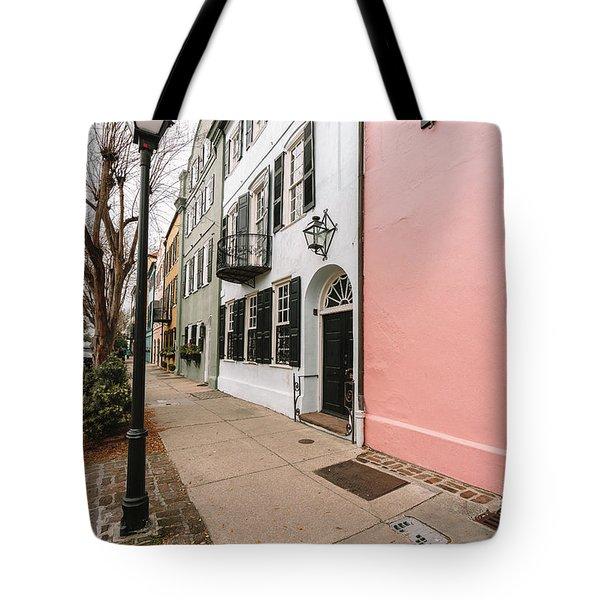 Around The Street Lamp Tote Bag