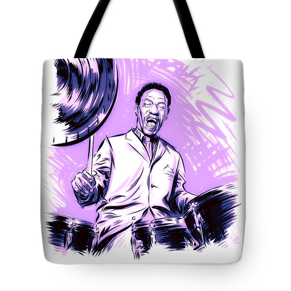 Art Blakey - - An Illustration By Paul Cemmick Tote Bag