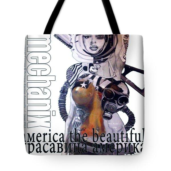 arteMECHANIX 1913 AMERICA THE BEAUTIFUL GRUNGE Tote Bag