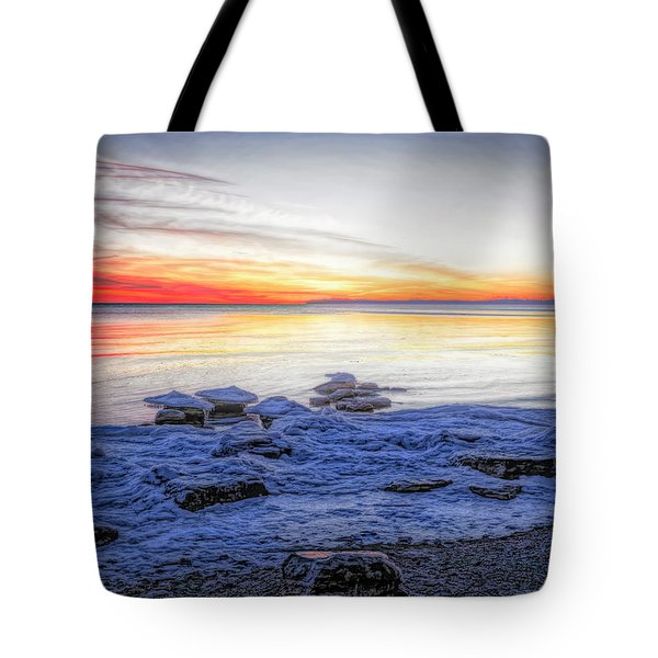 Artistic Evening On Erie Tote Bag