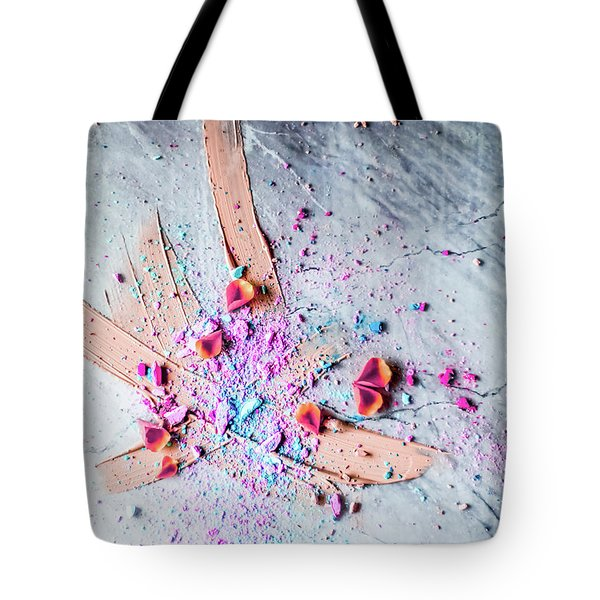 Tote Bag featuring the photograph Artsy Make-up II by Anne Leven