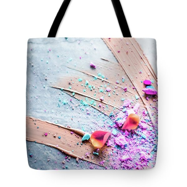 Tote Bag featuring the photograph Artsy Make-up V by Anne Leven