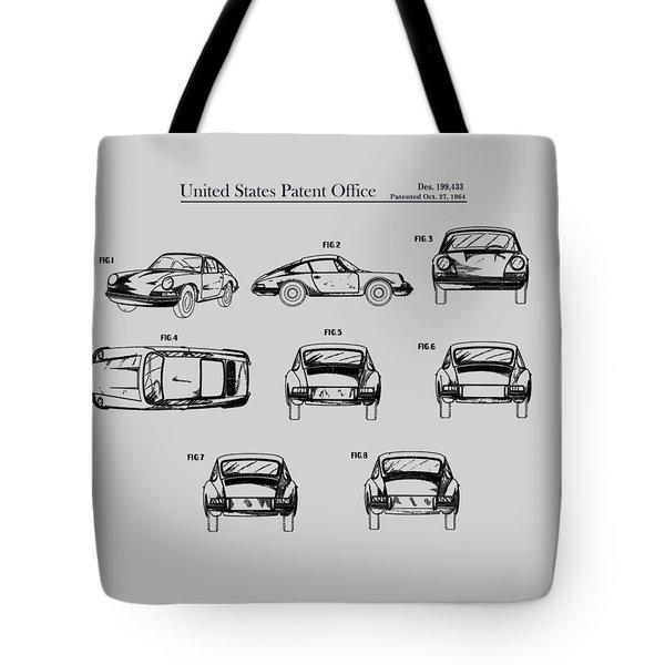 Porsche 911 Patent Tote Bag