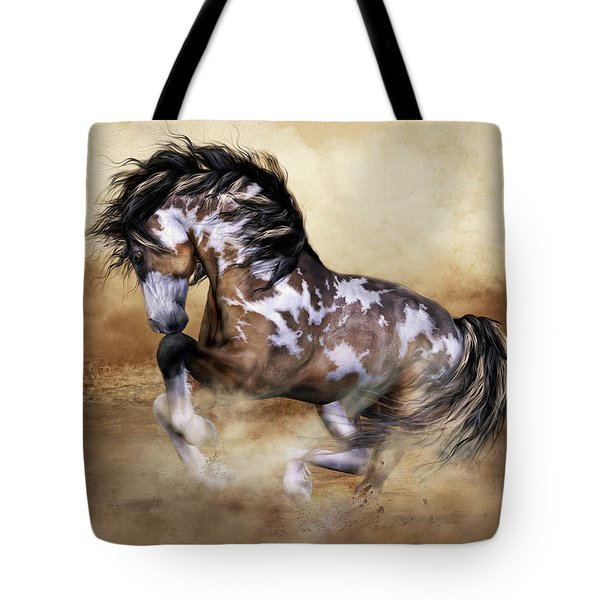 Wild And Free Horse Art Tote Bag