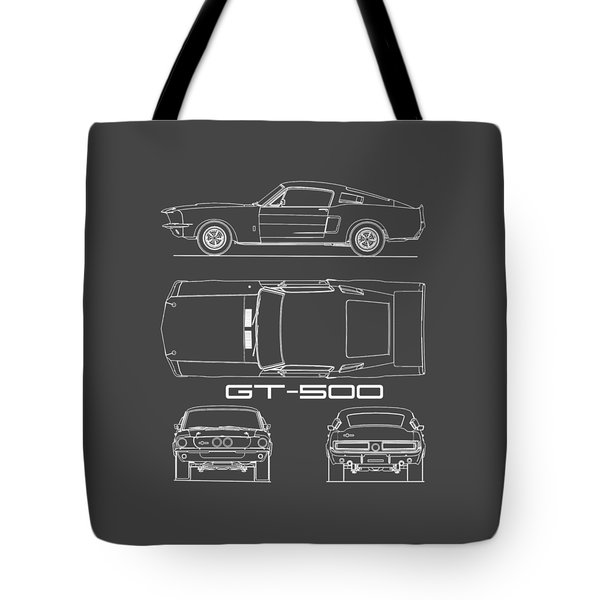 Shelby Mustang Gt500 Blueprint Tote Bag