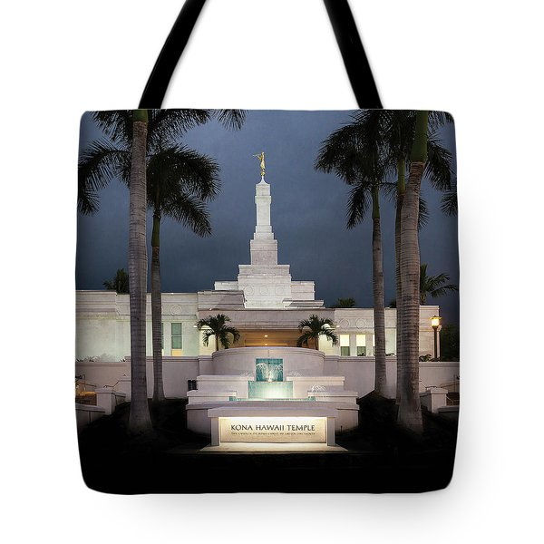 Kona Hawaii Temple-night Tote Bag