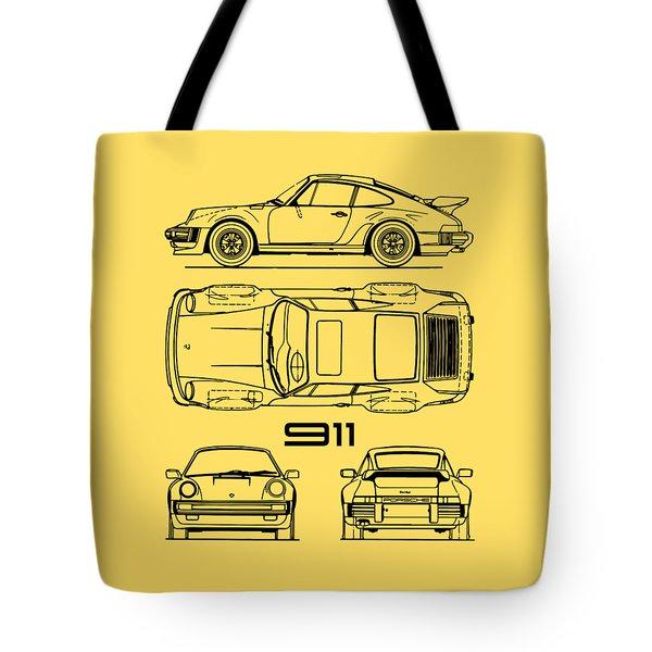 The 911 Turbo Blueprint Tote Bag