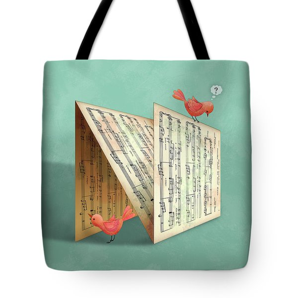 N Is For Notes Tote Bag