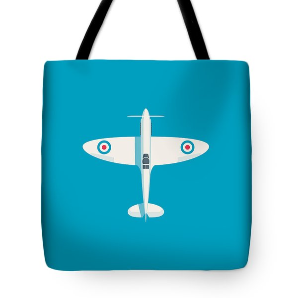 Supermarine Spitfire Wwii Raf Fighter Aircraft Tote Bag