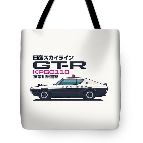 Kpgc110 Gt-r Japan Police Car Tote Bag