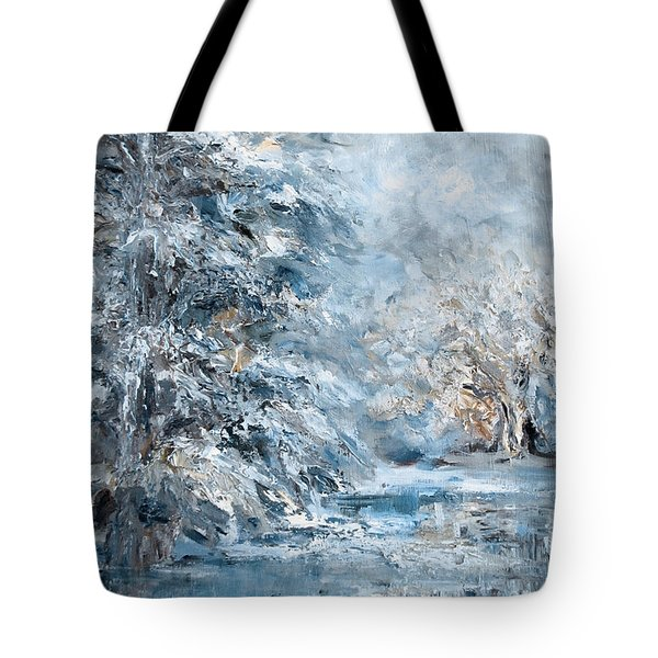 In The Snowy Silence Tote Bag