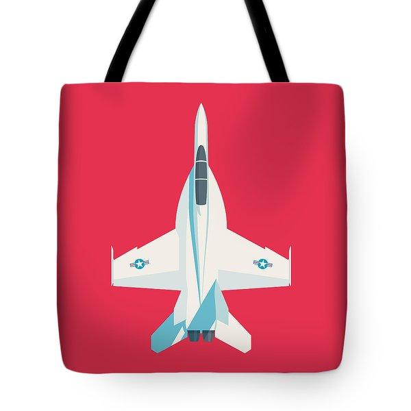 F-18 Super Hornet Jet Fighter Aircraft - Crimson Tote Bag