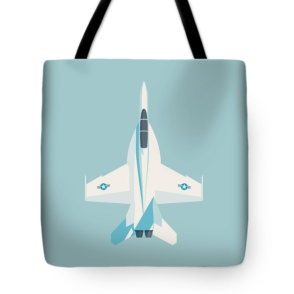 F-18 Super Hornet Jet Fighter Aircraft - Sky Tote Bag