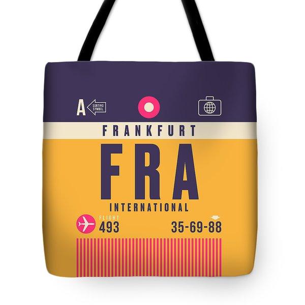 Retro Airline Luggage Tag - Fra Frankfurt Tote Bag