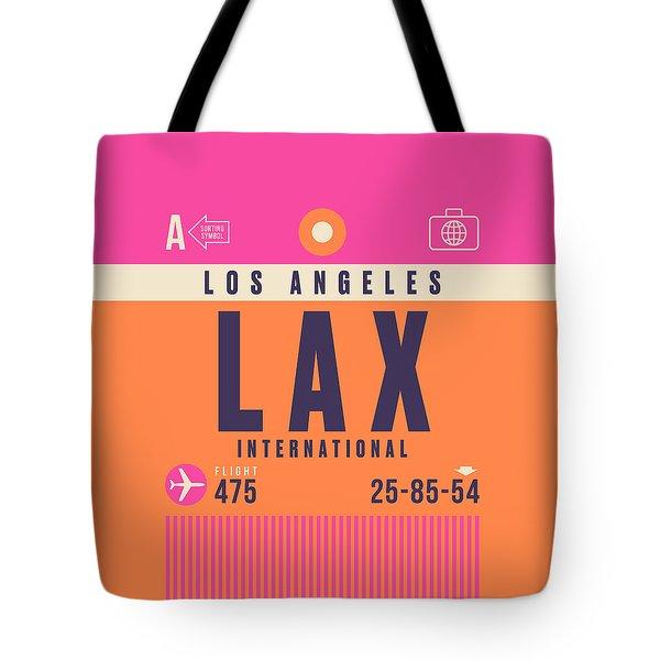 Retro Airline Luggage Tag - Lax Los Angeles Tote Bag