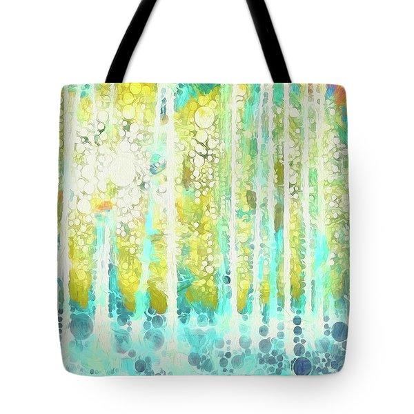 Sherwood Pines Abstract Art Tote Bag