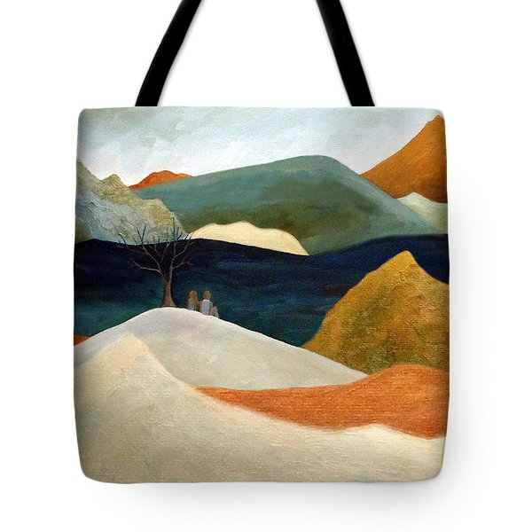 Us Two With A View Tote Bag