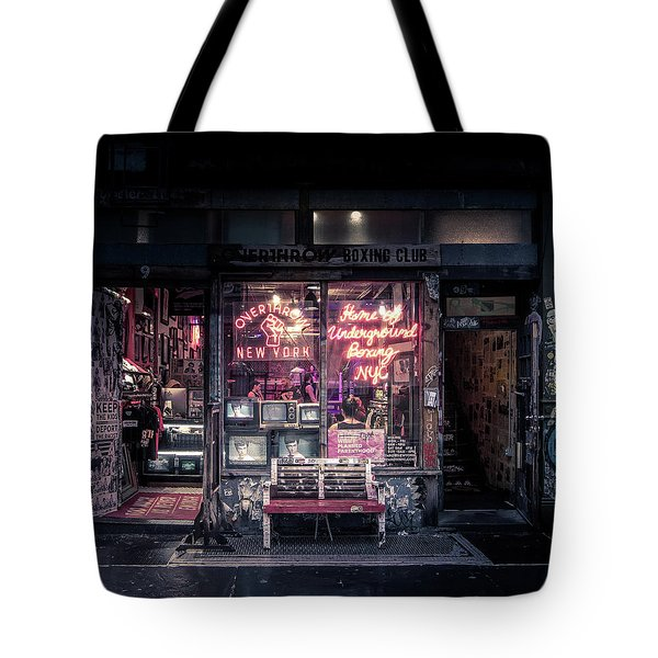 Underground Boxing Club Nyc Tote Bag