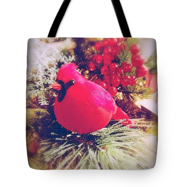 Tote Bag featuring the photograph Blessed Yule by Rachel Hannah