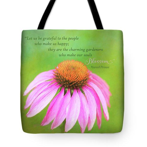 Coneflower Gratitude Art Tote Bag