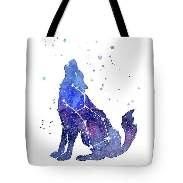 Galaxy Wolf - Lupus Constellation Tote Bag