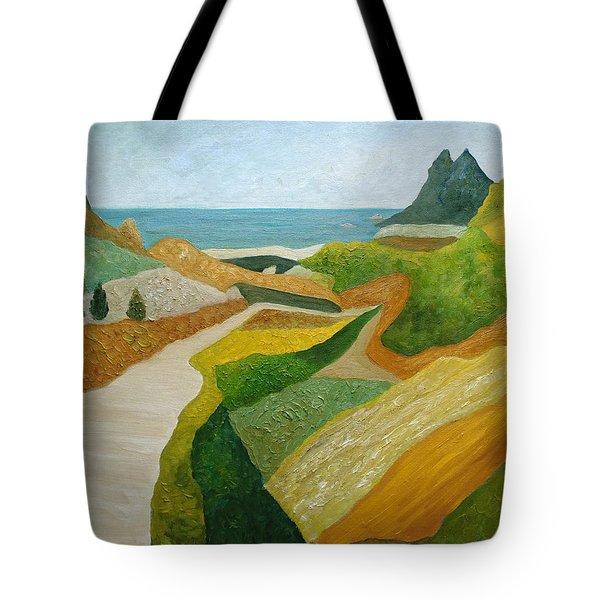 A Walk Down To The Sea Tote Bag