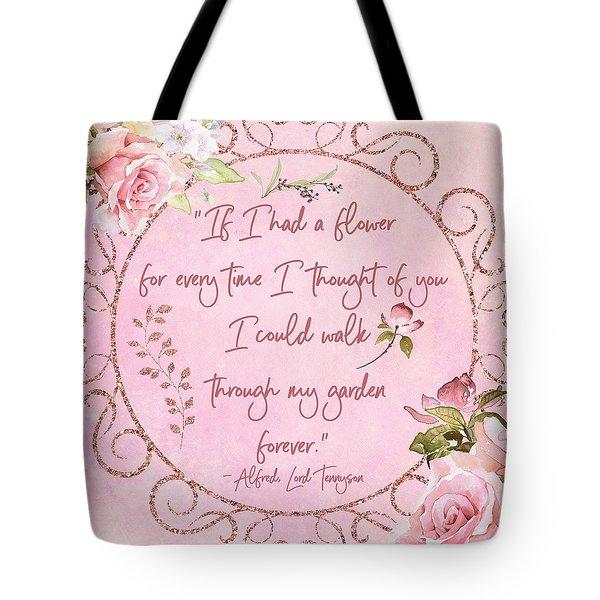 If I Had A Flower Love Artwork Tote Bag