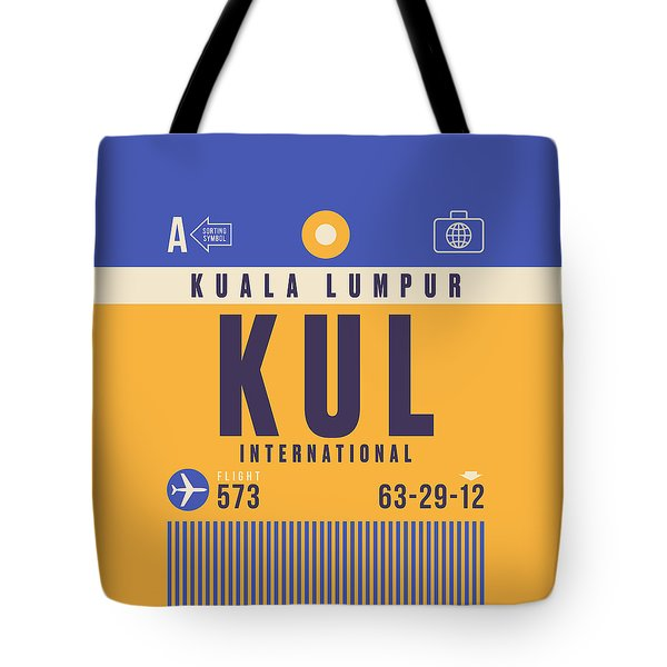 Retro Airline Luggage Tag - Kul Kuala Lumpur Airport Tote Bag
