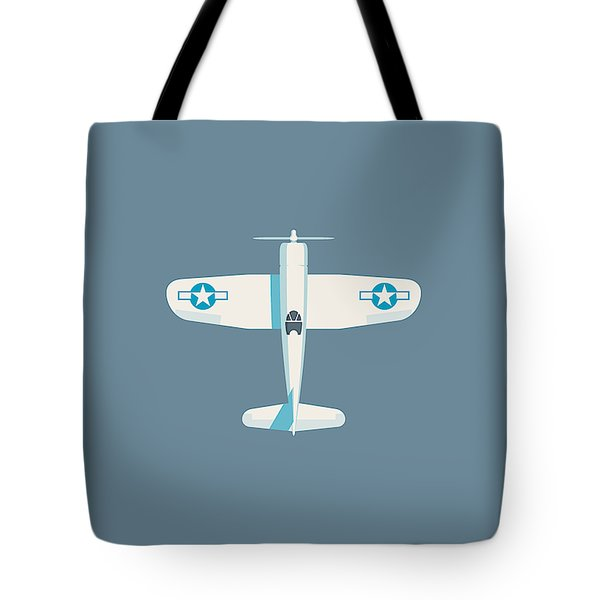 Corsair Fighter Aircraft - Slate Tote Bag