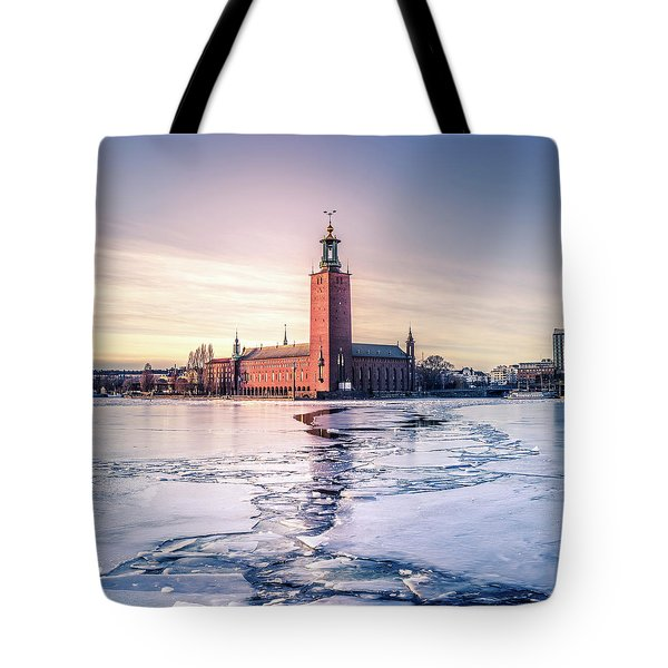 Stockholm City Hall In Winter Tote Bag