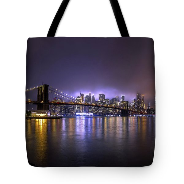 Bright Lights Of New York II Tote Bag