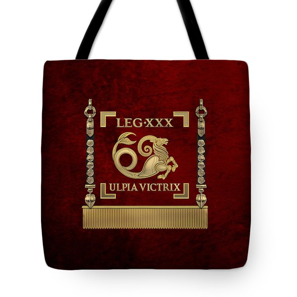 Standard Of The 30th Legion Ulpia Victrix - Vexillum Of The Trajan's Victorious Thirtieth Legion Tote Bag
