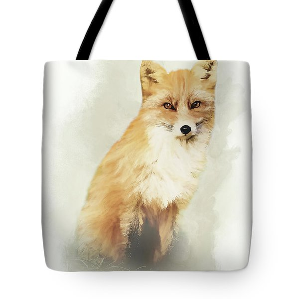 Woodland Fox Portrait Tote Bag