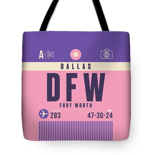Retro Airline Luggage Tag - Dfw Dallas Fort Worth United States Tote Bag