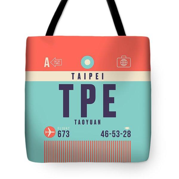 Retro Airline Luggage Tag - Tpe Taipei Taiwan Tote Bag