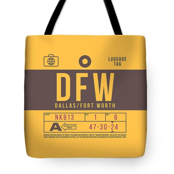 Retro Airline Luggage Tag 2.0 - Dfw Dallas Fort Worth United States Tote Bag