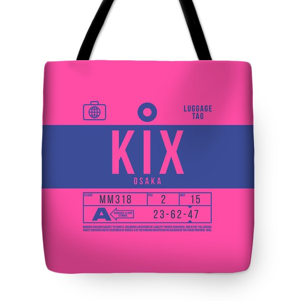 Retro Airline Luggage Tag 2.0 - Kix Osaka Kansai Japan Tote Bag