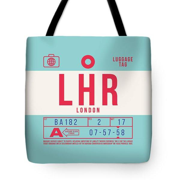 Retro Airline Luggage Tag 2.0 - Lhr London Heathrow Airport United Kingdom Tote Bag