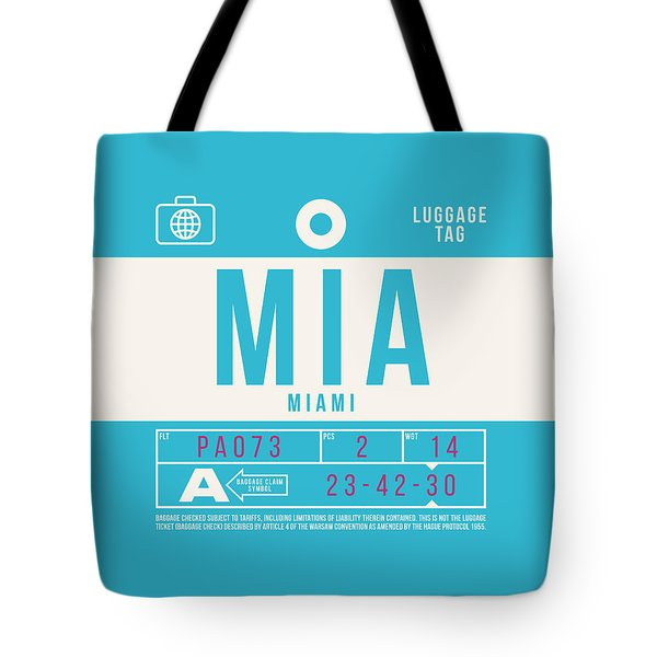 Retro Airline Luggage Tag 2.0 - Mia Miami International Airport United States Tote Bag