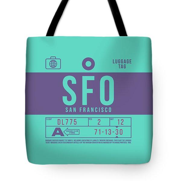 Retro Airline Luggage Tag 2.0 - Sfo San Francisco International Airport United States Tote Bag