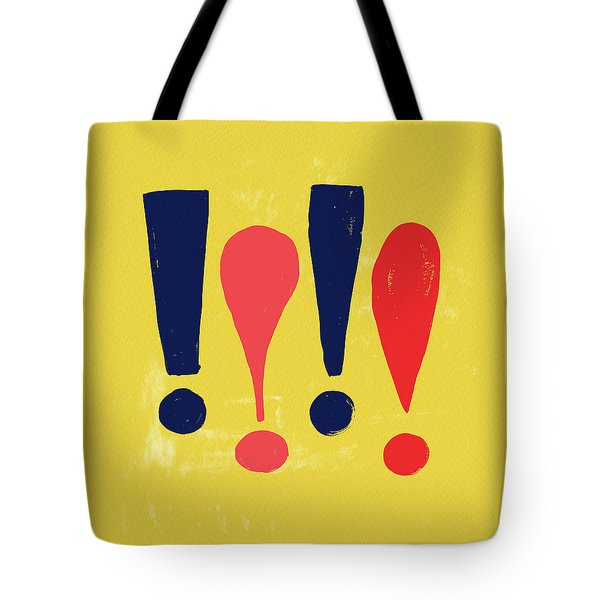 Exclamations Pop Art Tote Bag