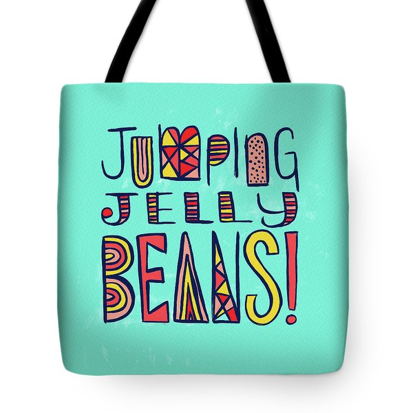 Jumping Jelly Beans Tote Bag