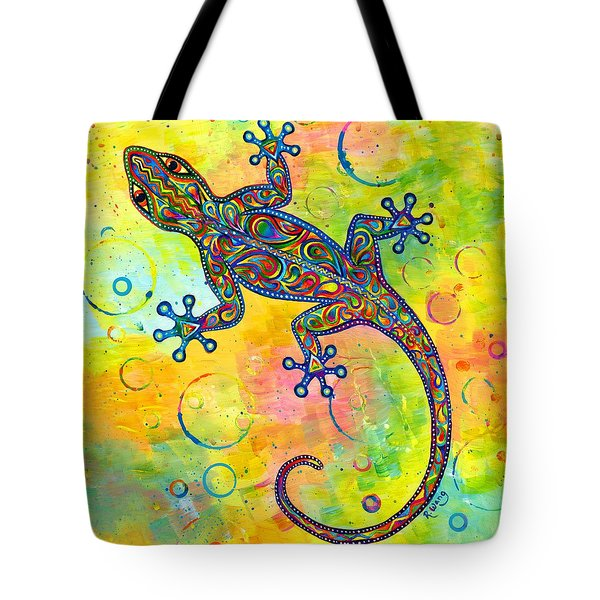 Electric Gecko Tote Bag