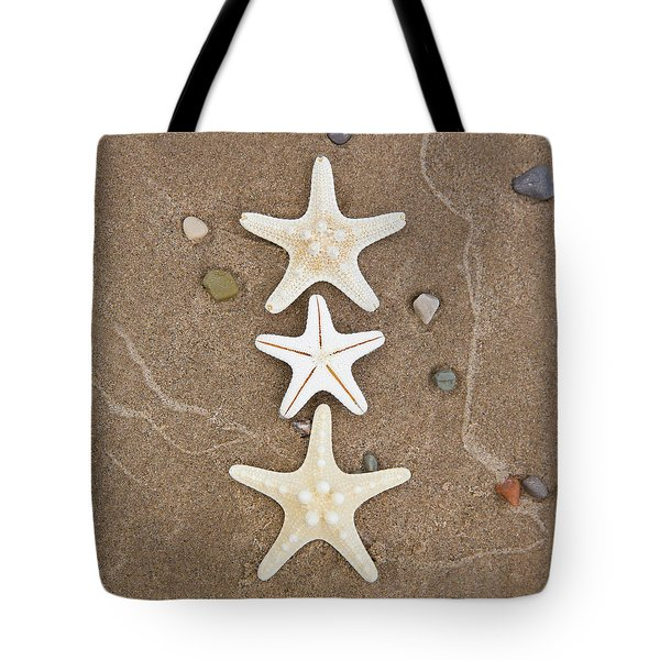 Starfish In The Sand Tote Bag