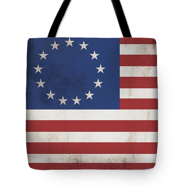 Betsy Ross Flag Land Of Free Home Of Brave Tote Bag